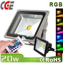 20W IP65 RGB LED Flood Light Used Outdoors