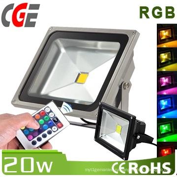 20Вт RGB с защитой IP65 свет потока СИД используемый на открытом воздухе