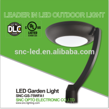 UL DLC V Circular Area Light, 75W LED Garden Light, 5000K LED Post Top Light