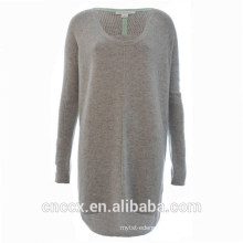 15STC3001 scoop neck cashmere tunic