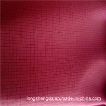 Água e vento resistentes Down Jacket Woven xadrez jacquard 12% poliéster + 88% tecido de mistura-teia de nylon (H060)