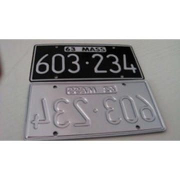 Custom Embossed Lovely Reflective Car Plate /Car Plate/Decorative Car Plate