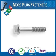 Made in Taiwan DIN 6921 Hex Head Flange Bolt Hex Head Hex Serrated Flange Bolts