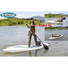 Single Sitzen auf dem Oberseite Plastik Surfing Kajak