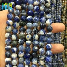Granos de la piedra preciosa Granos de la piedra de la joyería natural 4mm -12mm AAA Calidad Sodalita brasileña natural