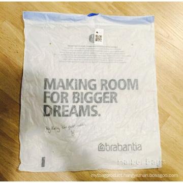 Printed Plastic Drawstring Storage Bag (HBPL-7)