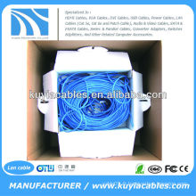 BLUE 305m / 1000ft CAT6 UTP Ethernet LAN Réseau CAT 6 Cord Cable Wire Bulk Pull Box