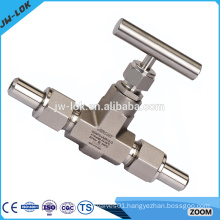 Hydraulic stainless steel union needle valve