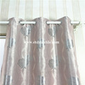 Polyester Black Yarn Jacquard Blackout Curtain
