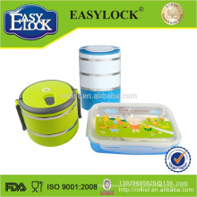 double layer insulated stainless steel bento lunch box