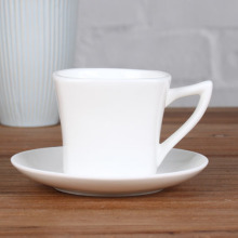 Magnesia square 6 oz cup and saucer