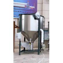 Mezclador de pellets de plástico de acero inoxidable con secado