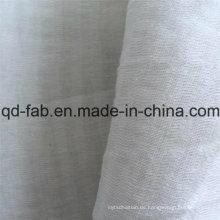 65% Leinen 20% Baumwolle15% Nylon Jacquard Gauze Stoff (QF16-2509)