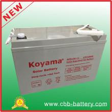 Bateria acidificada ao chumbo 12V100ah da bateria solar AGM / VRLA para começar elétrico