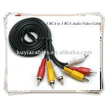 3 RCA a 3 cables RCA con Audio Video para DVD TV