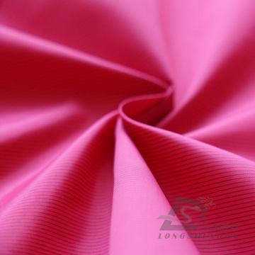 Water & Wind-Resistant Down Jacket Tejido Dobby Striped Jacquard Tejido Blend-Tejido Intertexture