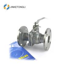 JKTLFB022 en acier inoxydable a216 wcb 2pc gère la vanne à bille ouverte