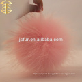 Warm Baby Pink Color Fur Ball Acceossory Light Pink Raccoon Fur Ball Wholesale Fluffy Fur Pom Poms