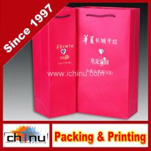 Бумажная сумка для вина (2325)