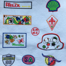 Custom Design Loop Badge Embroidery Patch For Clothes