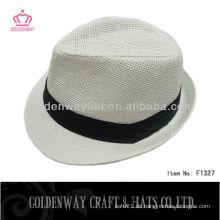 Werbeartikel billig Herren Weiß Fedora Hut
