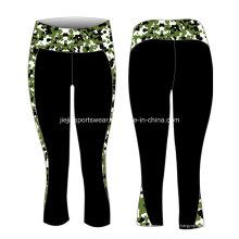 Pantalons de yoga de dames de sublimation de lycra d'usine d'OEM