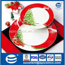 Ensemble de gâteau en porcelaine 7pcs EX8201B pour cadeau de Noël