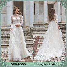 Alibaba vestido de noiva vestidos de novia en línea de primera clase vestido de novia de manga larga bohemio vestido de novia