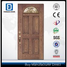 puerta de panel de fibra de vidrio con manijas de puertas de vidrio