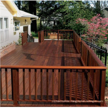 Dark Color Distressed Anti-scraped Garden Hardwood IPE Decking
