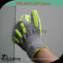 SRSAFETY 13 gauge Cut level 5 coated water-based PU chemical impact gloves