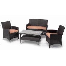 Barato de vime ao ar livre cadeira da mobília do Rattan sofá