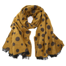 Womens Soft Cashmere Feel Alike DOT Printing Stole Shawl Wraps Scarf (SP279)