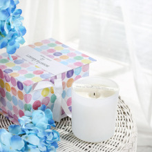 rigid candle gift box with pattern lid