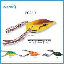 Gelbe / rote Farbe Beliebter handgemachter Froschköder
