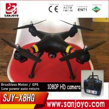 El drone más nuevo de GPS con la cámara de 1080p Función de alto bloqueo de SJY-X8HG / protección de baja tensión / batería baja vuelta PK Syma X8HG drone
