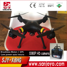 Newest GPS drone with 1080p camera SJY-X8HG high lock function/low voltage protection/low battery auto return PK Syma X8HG drone