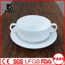 Fabrik Großhandel Keramik Suppe Schüssel mit Griff