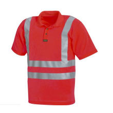 Safety Polo Shirt with High Visible Reflective Tape (DFJ022)