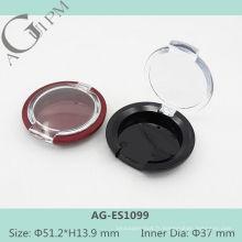 Transparent couvercle une grille ronde ombre à paupières cas AG-ES1099, AGPM empaquetage cosmétique, couleurs/Logo personnalisé