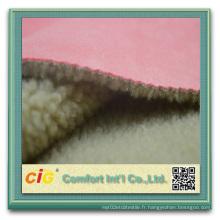 Hot Sale Upholstery Suede 100% Polyester Microfiber Suede désossé avec fourrure