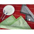 Waffle de algodão de impressão personalizada verificado toalhas de chá francês