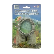 "Percell 60 ""Dual-Head Spring Aquarium Tube-borstel"