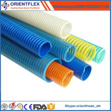Tuyau flexible flexible coloré de tuyau d'aspiration de PVC / tuyau de l'eau / tuyau de pompe d'aspiration