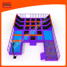 Cheap Rectangular Kids Wholesale Indoor Trampoline Bed Park
