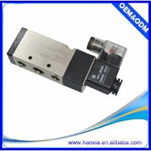 Válvula solenóide pneumática de duas vias de cinco vias de liga de alumínio 110v