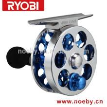 2015 Nova chegada RYOBI Fly Fishing Reels Mini Pie Mini Cool Raft Ice Casting Fly Reel para venda