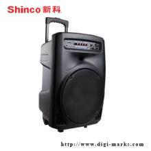 El altavoz superventas de Bluetooth con el altavoz estupendo bajo de la radio de FM