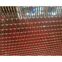 Cortina de malla de metal decorativa de cobre
