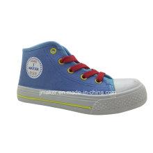 Zapatos de lona de inyección de niños de tobillo de estilo popular (X172-S & B)
